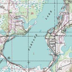 Portage Lake Michigan Map.Portage Lake Livingston County Michigan Lake Pinckney Usgs