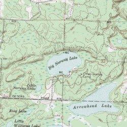 Big Norway Lake Ogemaw County Michigan Lake Sage Lake USGS - Norway mi map