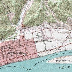 Manchester Ohio Map.Odd Fellows Cemetery Adams County Ohio Cemetery Manchester