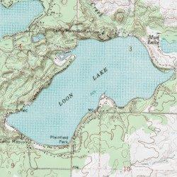Loon Lake Iosco County Michigan Lake Hale Usgs Topographic Map