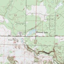 Esmond Lake Iosco County Michigan Lake Hale Usgs Topographic Map