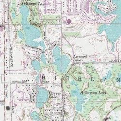 Leonard Michigan Map.Leonard Lake Oakland County Michigan Lake Highland Usgs