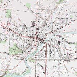 Vassar Tuscola County Michigan Populated Place Vassar Usgs