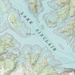 vintage topo map, united states topo map, cedar creek topo map, lake sinclair georgia map, oconee national forest topo map, ga power lake sinclair map, lake sinclair history, on topo map of lake sinclair
