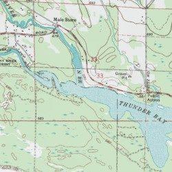 Thunder Bay Michigan Map.North Branch Thunder Bay River Alpena County Michigan Stream