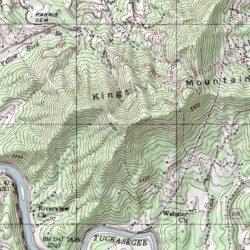 Kings Mountain Jackson County North Carolina Summit Sylva - South carolina elevation map