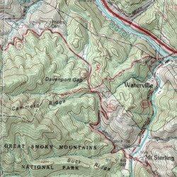 Davenport Gap Appalachian Trail Shelter Cocke County Tennessee - Appalachian trail shelters map