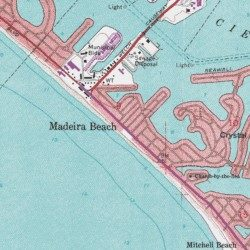 Madeira Beach Pinellas County Florida Populated Place Seminole