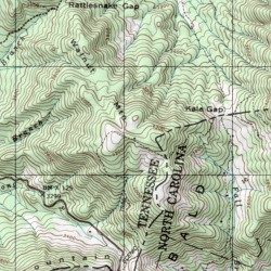 Walnut Mountain Appalachian Trail Shelter Cocke County Tennessee - Appalachian trail shelters map