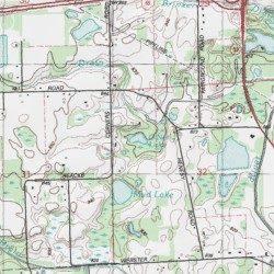 O Neil Lake Lapeer County Michigan Lake Almont Usgs Topographic