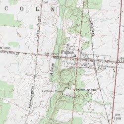 Marengo Ohio Map.Fulton Cemetery Morrow County Ohio Cemetery Marengo Usgs