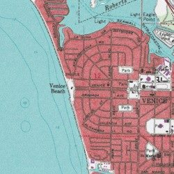 Venice Beach Sarasota County Florida Populated Place Venice - Topographical map of florida