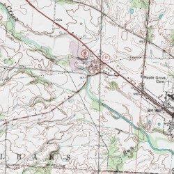 Pet Run Licking County Ohio Stream Jersey Usgs Topographic Map