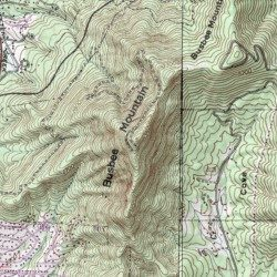 Asheville Elevation Map.Busbee Mountain Buncombe County North Carolina Summit Asheville