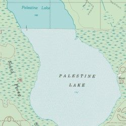 Palestine Lake Union County Florida Lake Lulu USGS Topographic - Florida topographic map