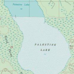 Palestine Lake Union County Florida Lake Lulu USGS Topographic - Florida topographic map