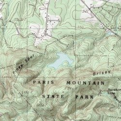 Parris Mountain Holding Pond Greenville County South Carolina - Parris map