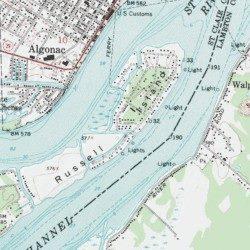 Algonac Michigan Map.Russell Island St Clair County Michigan Island Algonac Usgs