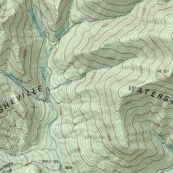 Asheville Elevation Map.Asheville Watershed Buncombe County North Carolina Area Montreat