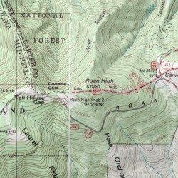 Roan High Knob Appalachian Trail Shelter Carter County Tennessee - Appalachian trail shelters map