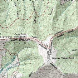 Grassy Knob Appalachian Trail Shelter Carter County Tennessee - Appalachian trail shelters map