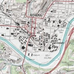Athens Campus Map.Ohio University Campus Green Historic District Athens County Ohio