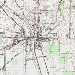 Seville Medina County Ohio Populated Place Seville Usgs