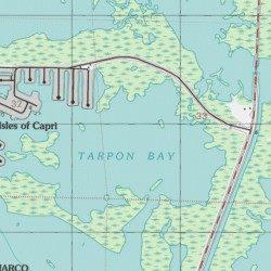 Map Of Florida Bay.Tarpon Bay Collier County Florida Bay Marco Island Usgs