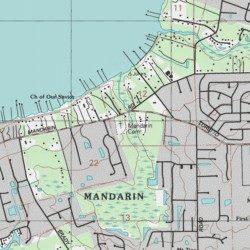 Mandarin Cemetery Duval County Florida Cemetery Orange Park Usgs