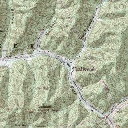 Topographic Map West Virginia.Coalwood Mcdowell County West Virginia Populated Place Davy Usgs