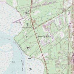 Amelia City Florida Map.Amelia City Nassau County Florida Populated Place Amelia City
