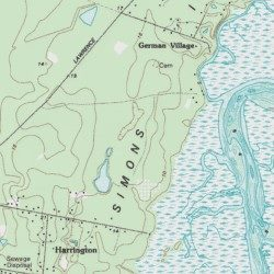 Saint Simons Island Glynn County Georgia Island Sea Island USGS - Georgia topographic map