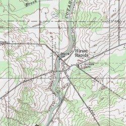 Hiram Rapids Portage County Ohio Populated Place Mantua Usgs