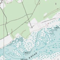 Hilton Head Island Beaufort County South Carolina Island - South carolina elevation map