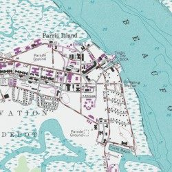 USMC Parris Island Fire Department Beaufort County South Carolina - Parris map