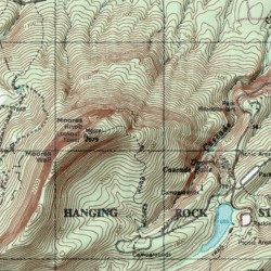 Cliff On A Topographic Map.Indian Face Stokes County North Carolina Cliff Hanging Rock Usgs