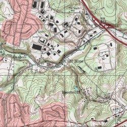 Cliff Topographic Map.Cliff Mine Allegheny County Pennsylvania Locale Oakdale Usgs
