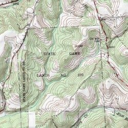 Topographic Map Game.State Game Lands Number 203 Allegheny County Pennsylvania Park