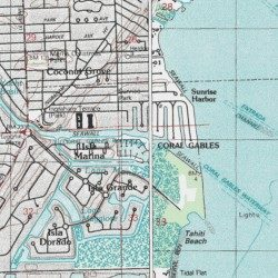 Coral Gables Map Florida.Coral Gables Waterway Miami Dade County Florida Channel South