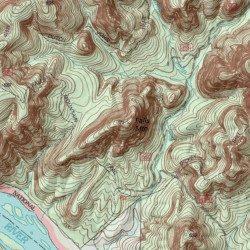 Topographic Map Mountains.Uwharrie Mountains Randolph County North Carolina Range Badin