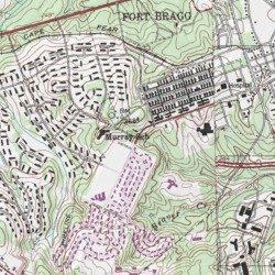 Fort Bragg Hoke County North Carolina Military Overhills USGS - Military topographic maps