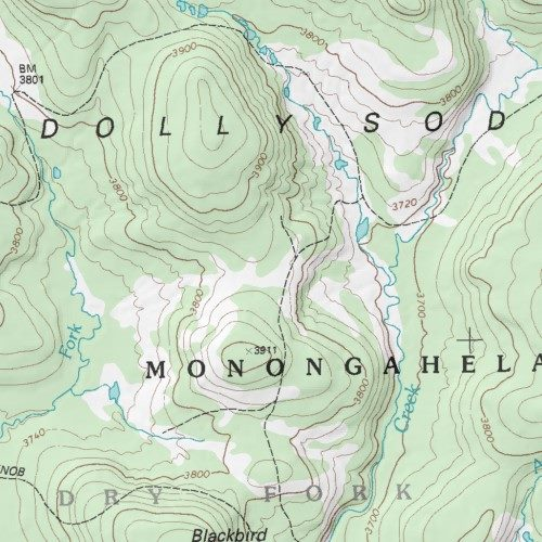 Dolly Sods Map on
