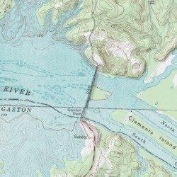 Gaston Nc Map.Lake Gaston Northampton County North Carolina Reservoir