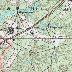 Hill Topographic Map.A P Hill Army Airfield Fort A P Hill Caroline County Virginia