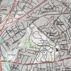 King David Memorial Gardens Fairfax County Virginia Cemetery Falls Church Usgs Topographic Map By Mytopo