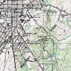 Gettysburg Topographic Map.Gettysburg National Military Park Adams County Pennsylvania Park