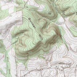 Hill Topographic Map.Bunker Hill Columbia County Pennsylvania Summit Benton Usgs