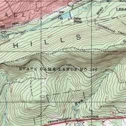 Topographic Map Game.State Game Lands Number 156 Lancaster County Pennsylvania Park