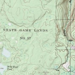 Topographic Map Game.State Game Lands Number 57 Wyoming County Pennsylvania Park