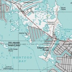 Cape Windsor Mobile Home Park Sussex County Delaware Populated Place Assawoman Bay USGS Topographic Map By MyTopo